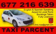 Recommended local taxi service - click to email a booking enquiry