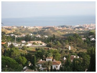 Looking towards the Mediterranean and Fuengirola